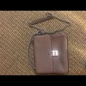 Grey/purple Michael Kors crossbody bag